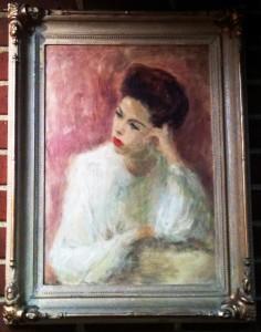 Mom painting